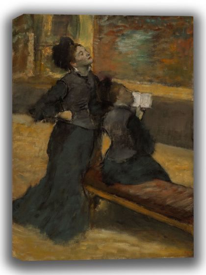 Degas, Edgar: Visit to a Museum. Fine Art Canvas. Sizes: A4/A3/A2/A1 (003777)